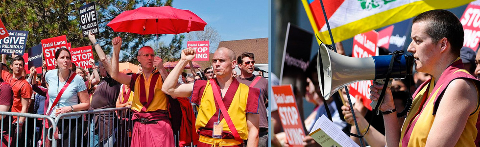 Protests against the Dalai Lama via Western Shugden Society, Gen Kelsang Khyenrab & Gen Kelsang Dekyong