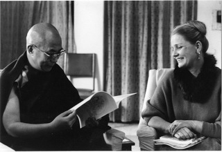 HH the Dalai Lama with Louwrien Wijers, 1982