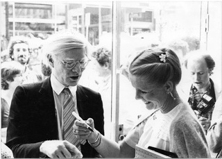 Andy Warhol with Louwrien Wijers, 1980