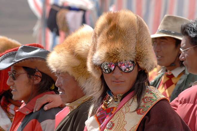 Tibet 2007: Nomad with fox hat. Olaf Schubert